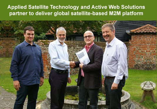 Applied Satellite Technology and Active Web Solutions partner to deliver global satellite-based M2M platform