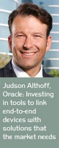 Judson Althoff, Oracle: Investing in tools to link end-to-end devices with solutions that the market needs
