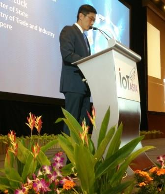 Teo Ser Luck, Singapore's minister for Trade & Industry, opens IoT Asia