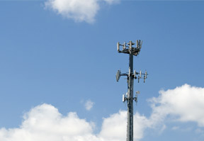 cell-tower-in-blue-sky