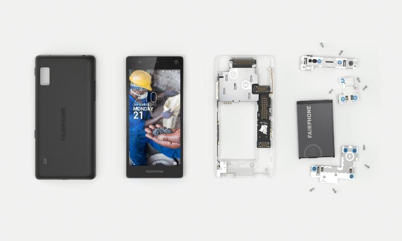 Fairphone 2 Disassembled. Credit: Fairphone