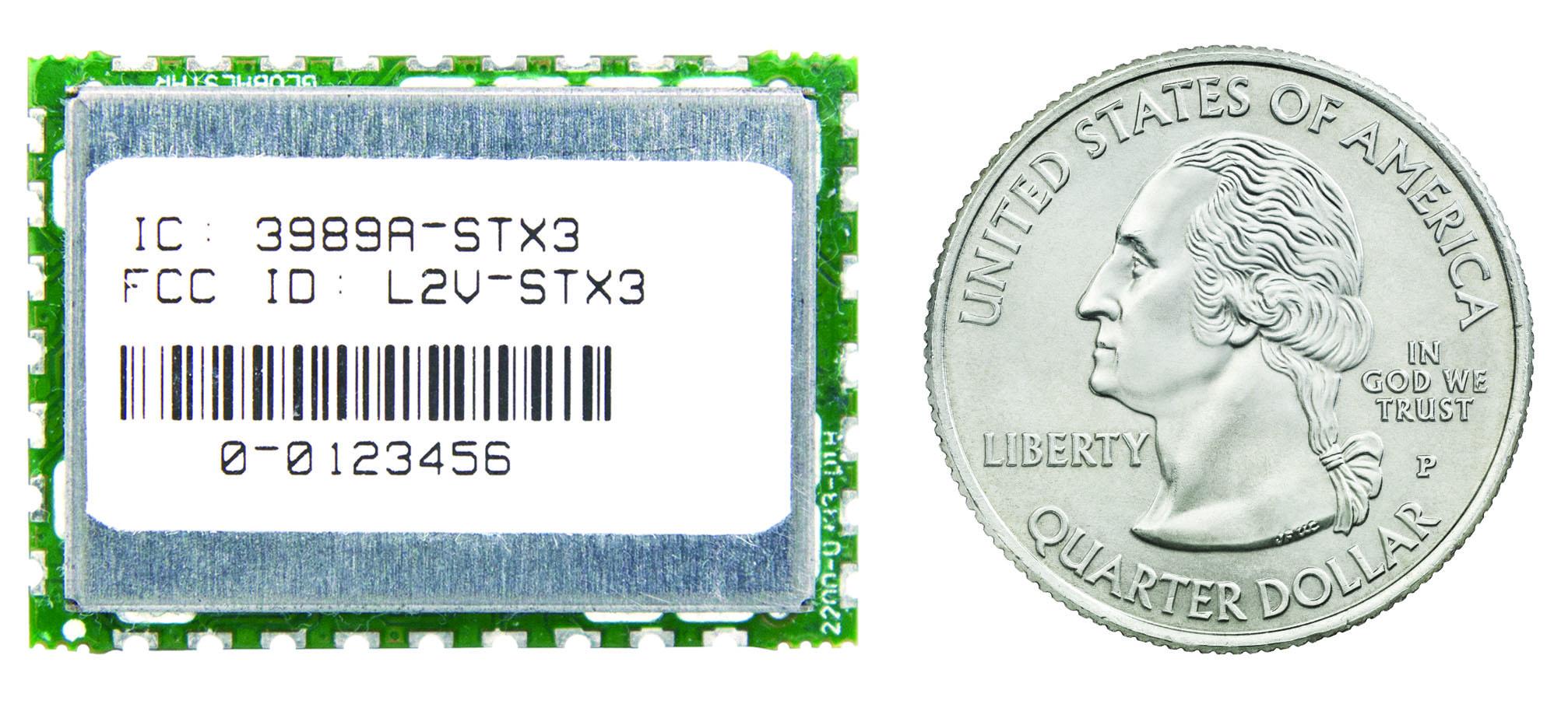 Image to Support Globalstar Identec story 2 - STX3 chipset vs quater