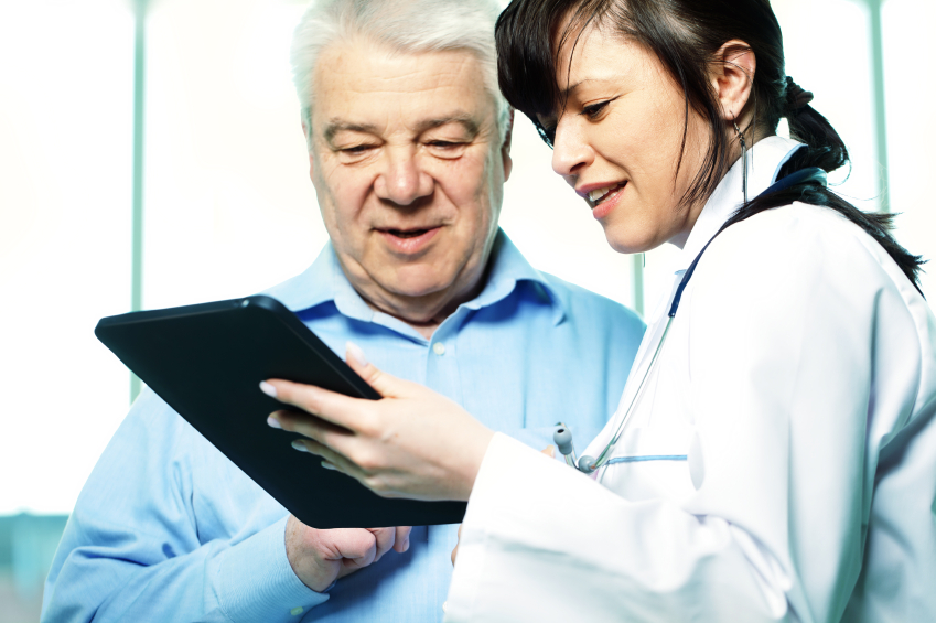 Nurse and Doctor with iPad
