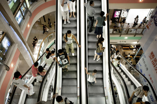 Escalators in smart buildings will be equipped with motion and other sensors (Copyright © KONE Corporation)