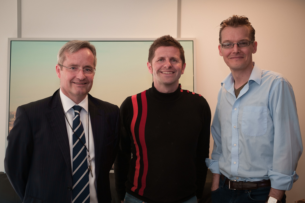 Chris Musson - chief executive of Liverpool Science Park with Rob Black and Michael Verity of REALSPACE