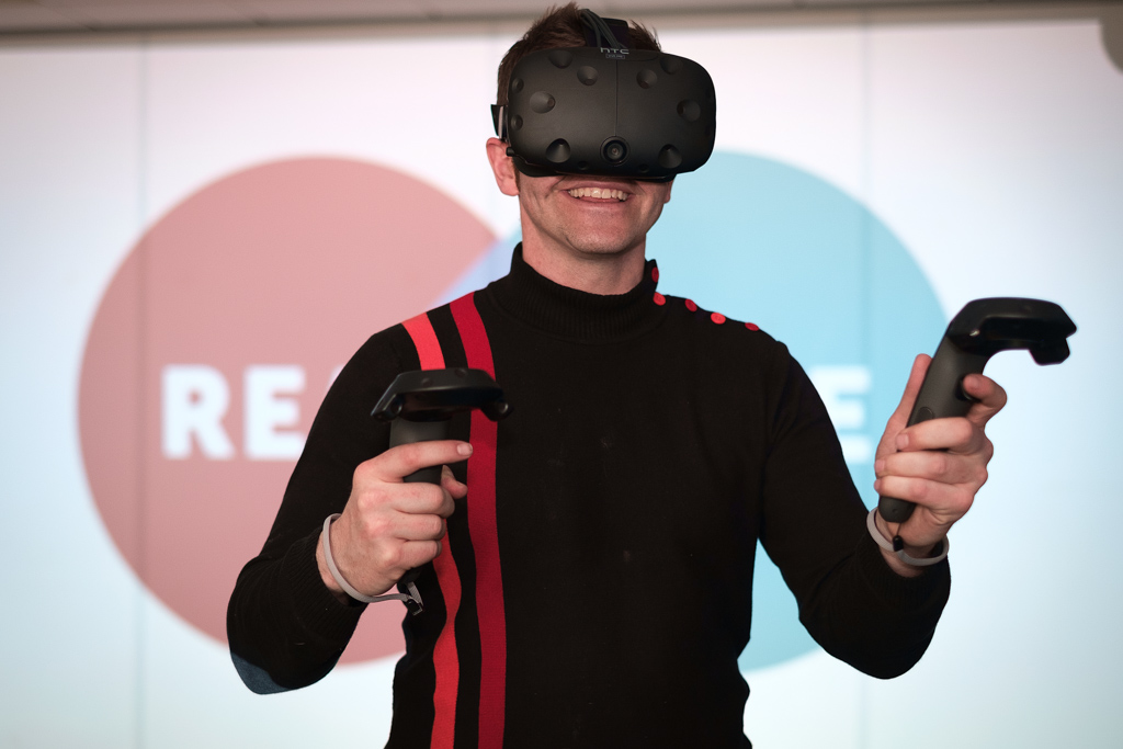 Rob Black trying out REALSPACE technology