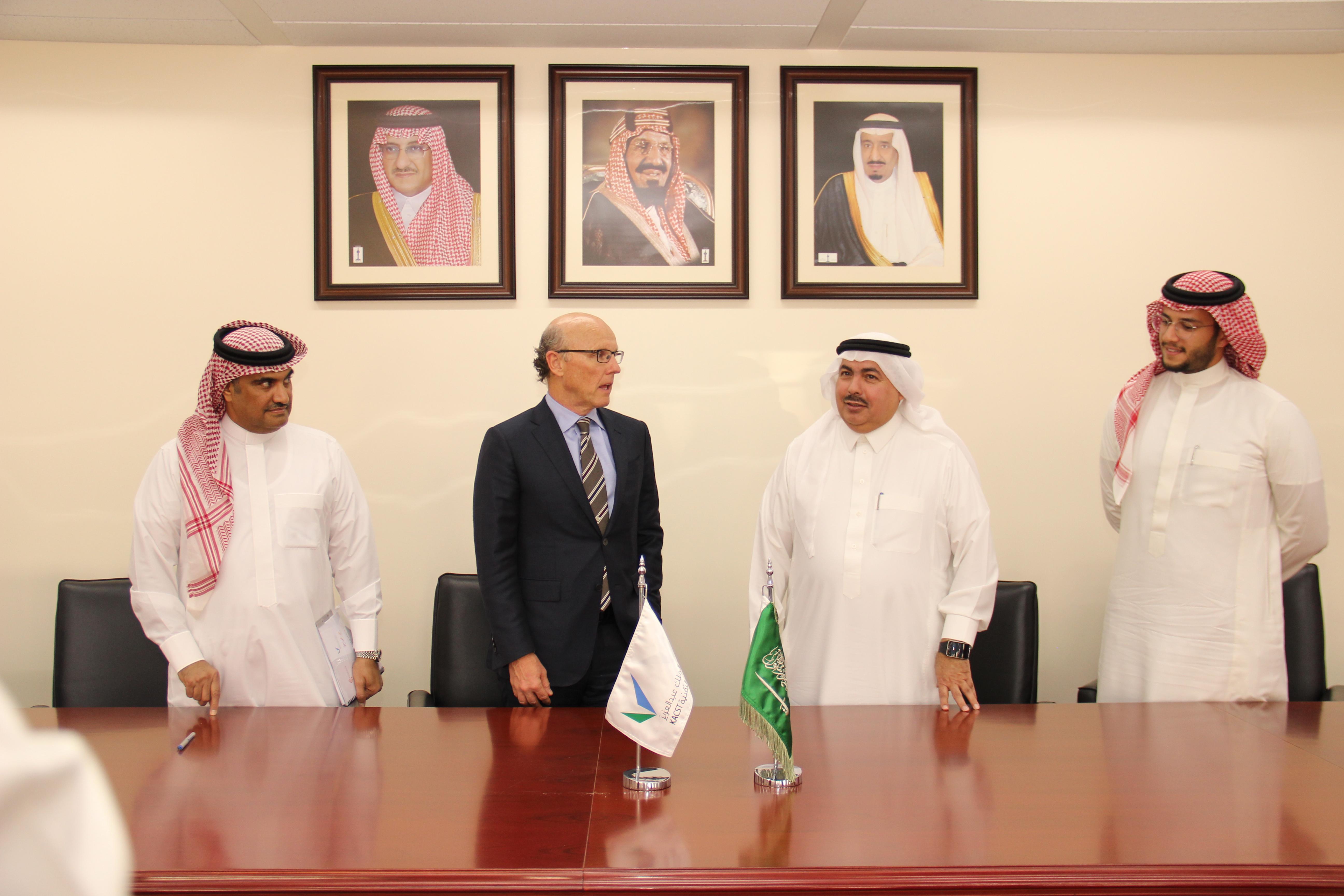 left is Eng Adbullah Al-Osaimi followed by David McCourt, then HH Dr. Turki bin Saud and finally Prince Bandar M. Al-Saud
