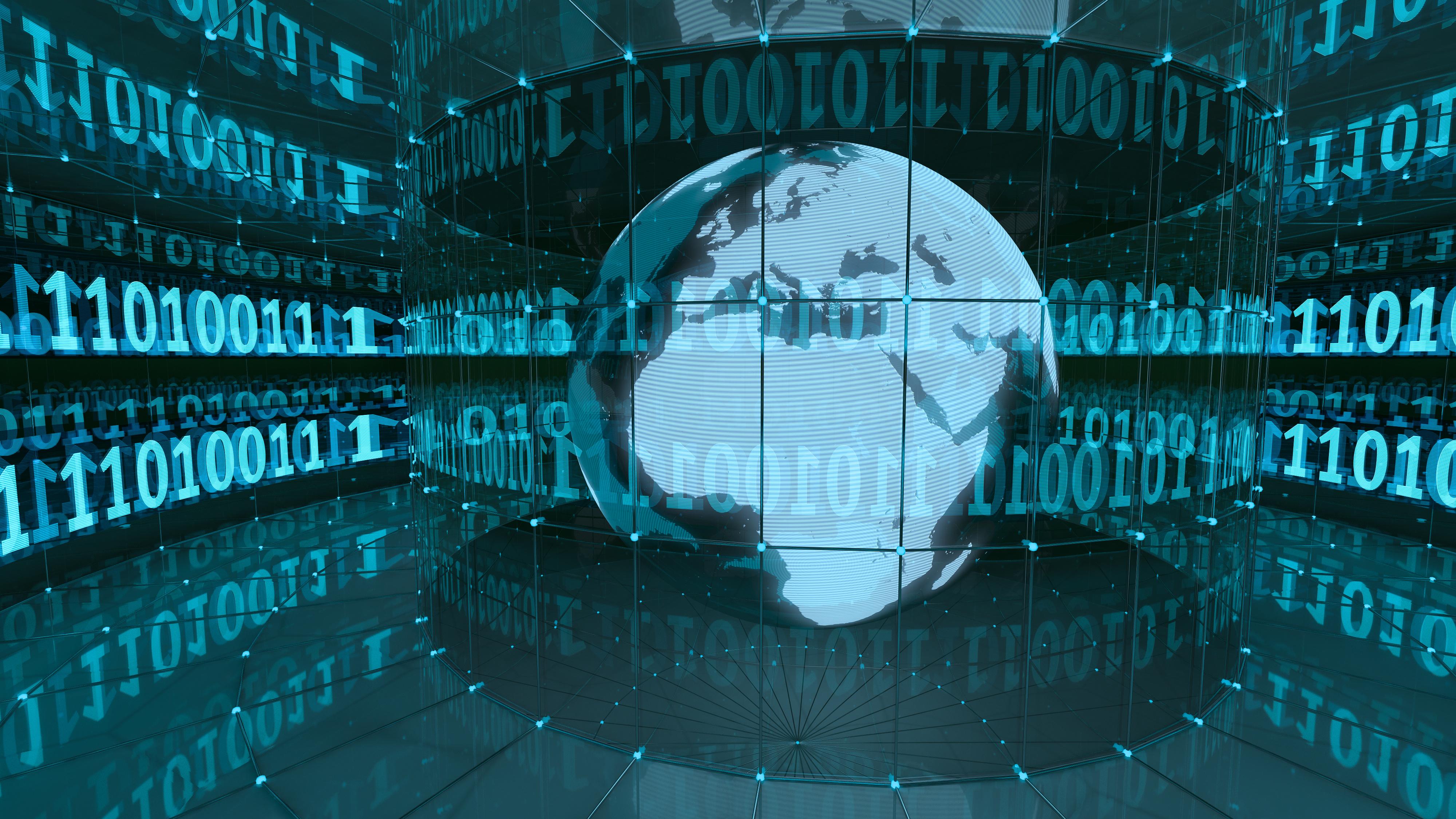 Digital World in Blue