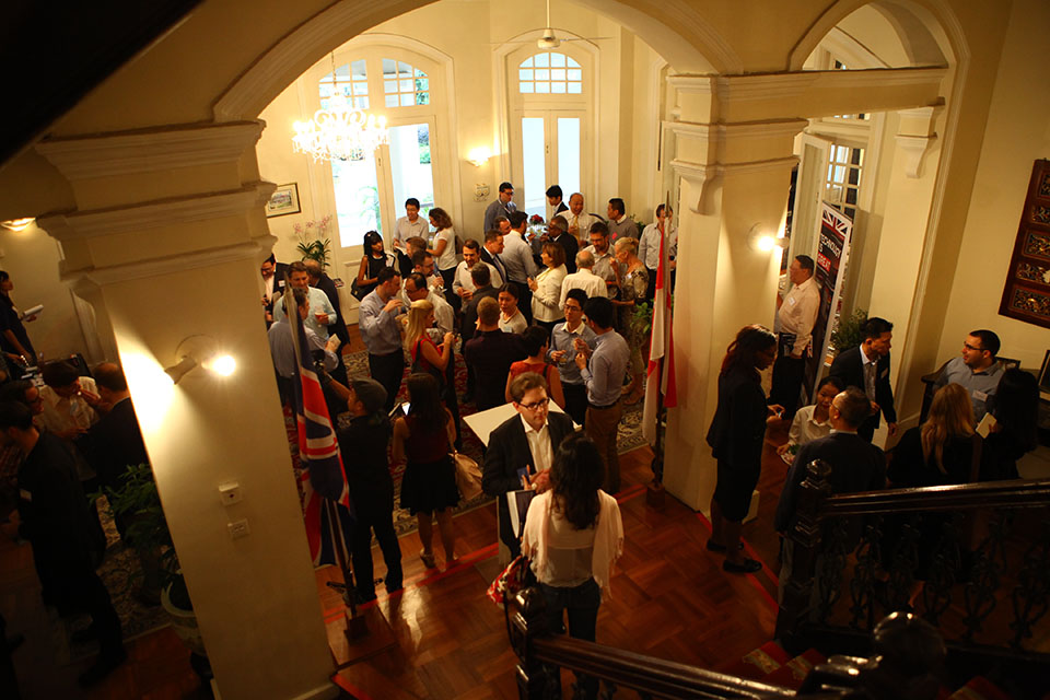 Networking reception with investors at the British High Commissioner's residence
