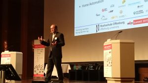 Prof. Dr. Axel Sikora addresses the M2M Summit