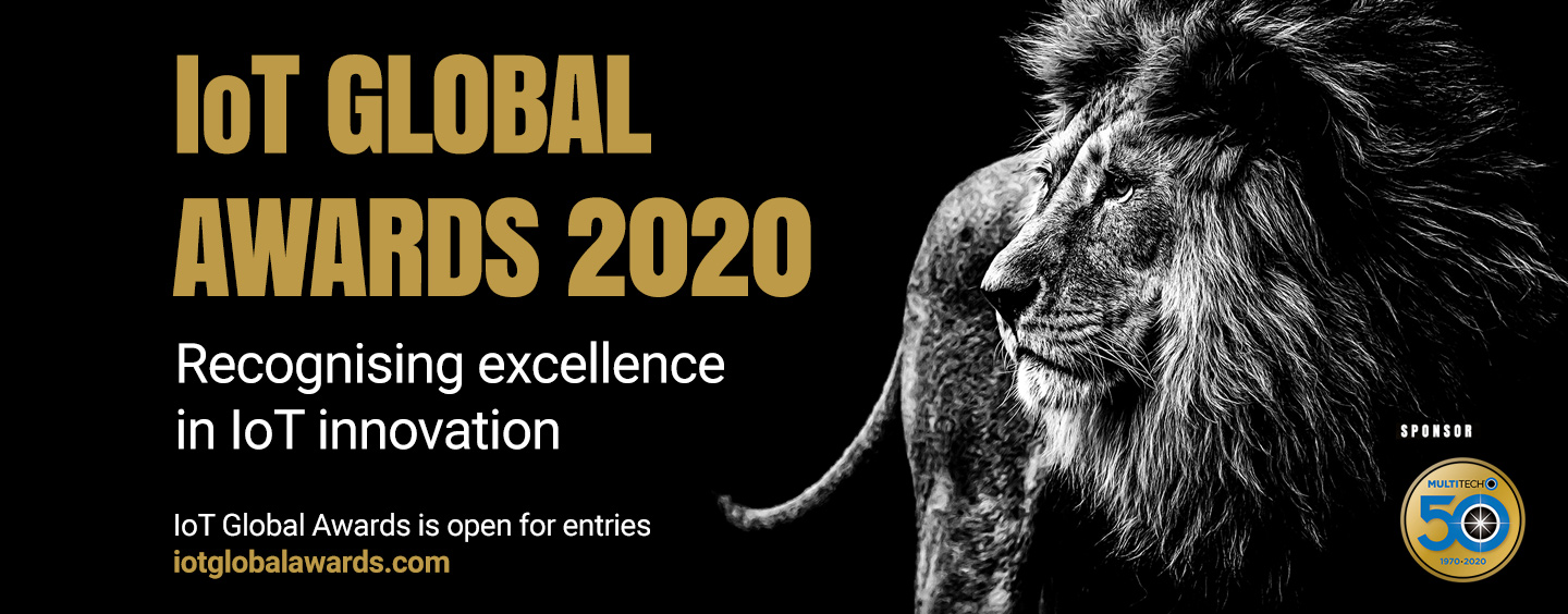 IoT Global Awards 2020 is open for entries - lion image on black background