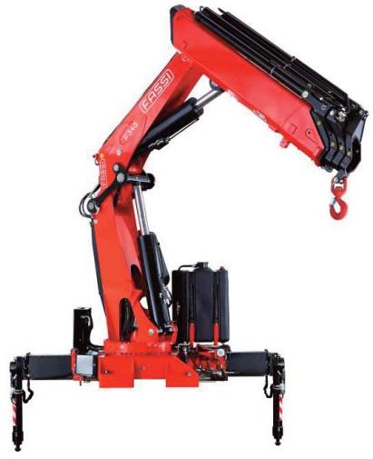 Red fassi crane closeup